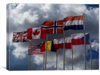 World War II National Flags, Canvas Print