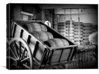 Barrel of Oats, Canvas Print