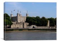 Tower of London Thames View, Canvas Print