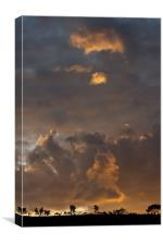 Sunset over Croeslyn, Canvas Print