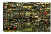 Brixham Harbour, Canvas Print
