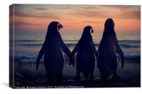 Three Penguins, Canvas Print