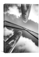 Two IFC, Reflected, Canvas Print