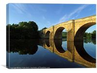 Chollerford Bridge at Sunrise, Canvas Print