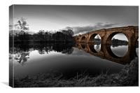 Chollerford Bridge, Northumberland, Canvas Print