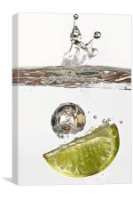 Lime Splash, Canvas Print
