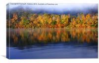 Rising Autumn Mist, Canvas Print