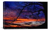 Red Sky at Morning, Canvas Print