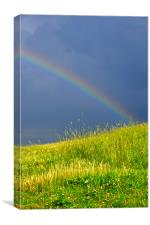 Passing Storm and Rainbow, Canvas Print