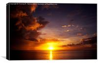 Caribbean Sunset, Canvas Print