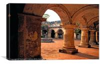 Las Capuchinas Arches, Canvas Print