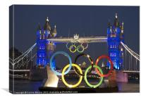 London Bridge Olympic Style, Canvas Print