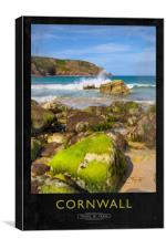 Cornwall Railway Poster, Canvas Print