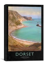 Dorset Railway Poster, Canvas Print