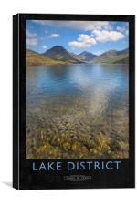 Lake District Railway Poster, Canvas Print