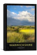 Warwickshire Railway Poster, Canvas Print