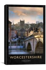 Worcestershire Railway Poster, Canvas Print