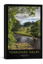 Yorkshire Dales Railway Poster, Canvas Print