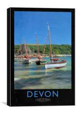 Devon Railway Poster, Canvas Print