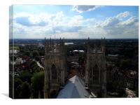View from the top of York Minster, Canvas Print