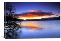 Loch Freuchie - a winters sunrise, Canvas Print