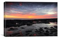 Sunrise over Craster, Canvas Print