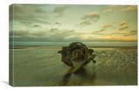 Aberlady submarine, Canvas Print