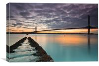 Forth Road bridge sunset, Canvas Print