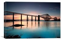 Forth Rail Bridge sunset, Canvas Print
