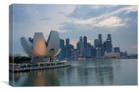 Singapore skyline, Canvas Print