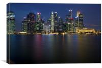Singapore at night, Canvas Print