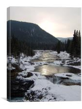 Elbow River, Alberta, Canada, Canvas Print