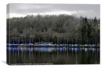 Reservoir Reflection Ardingly West Sussex, Canvas Print