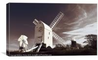 Jack and Jill Windmills Clayton, Canvas Print