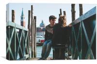 The love in Venice, Canvas Print