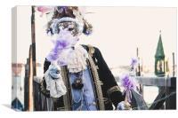 Carnival in Venice, Canvas Print