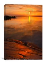 Archipelago of Stockholm, sunset, Canvas Print