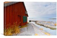 Fisherman''s hut, Canvas Print