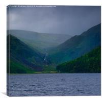 Lake at Glendalough in mist, Canvas Print