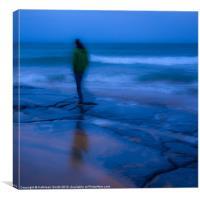 Dusk by the sea, Canvas Print