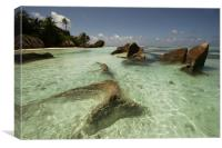 La Digue, SEYCHELLES, Canvas Print