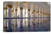 Sheikh Zayed Mosque in Abu Dhabi, Canvas Print