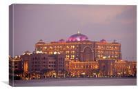Emirates Palace  Abu Dhabi, Canvas Print