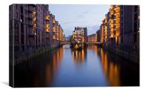 Speicherstadt Hamburg, Germany, Canvas Print