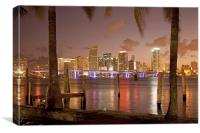 Downtown Miami,  Florida,, Canvas Print