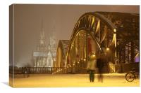 Cologne Cathedral at night, Canvas Print