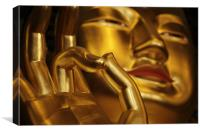 golden buddha in seoul, Canvas Print