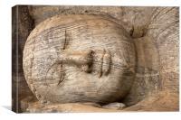 stone Buddha, Canvas Print