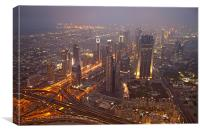 Dubai Skyline, Canvas Print