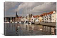 Harbour of Sonderborg, denmark, Canvas Print